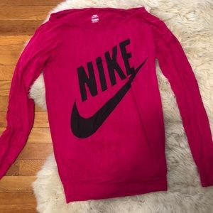 Nike pink long sleeves Sportswear top shirt S